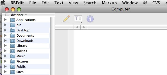 bbedit disk browser
